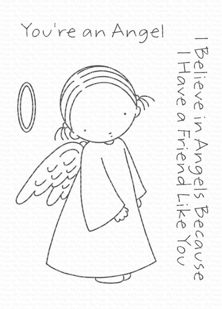 My Favorite Things Angel Die-namics (MFT-1633) + My Favorite Things Angel Clear Stamps (PI-292)