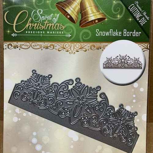 Dies Amy design Snowflake border ca 12,5 cm