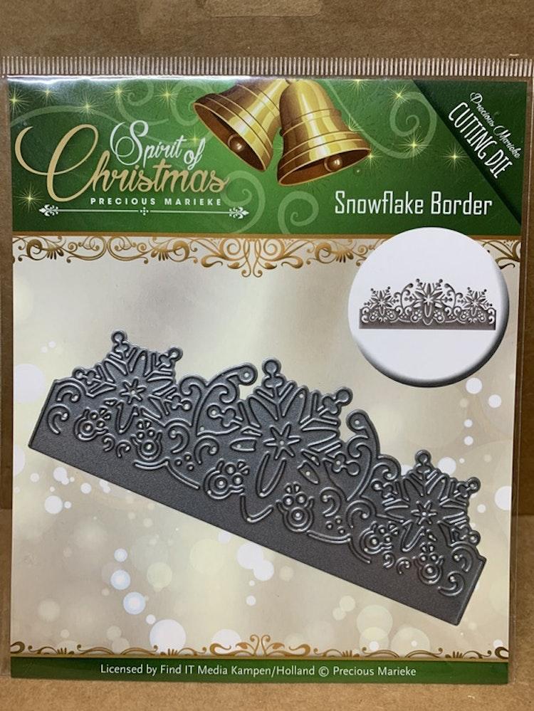 Dies Amy design Snowflake border ca 12,5 cm