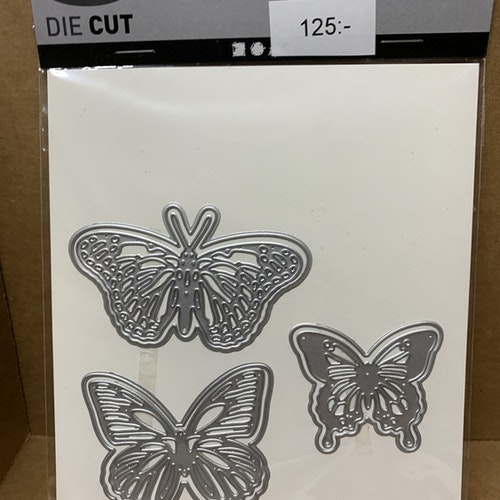 Dies fjärilar, 6 st, ca 5,5x6 cm (största)