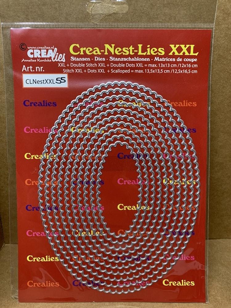 Dies Crea-Nest-Lies XXL mått på den största: ca 16,5x12,5 cm