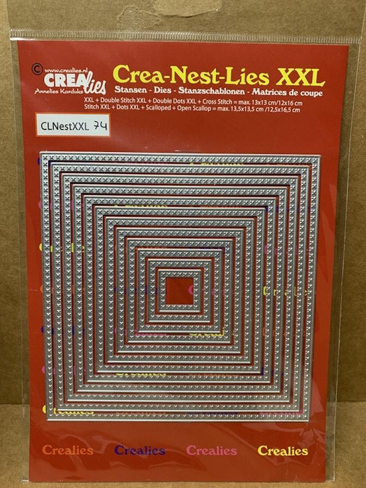 Dies Crea-Nest-Lies XXL mått på den största: ca 13x13 cm
