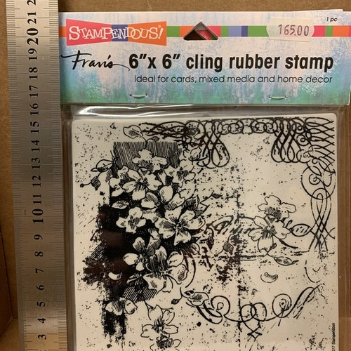 6x6 cling rubber stamp