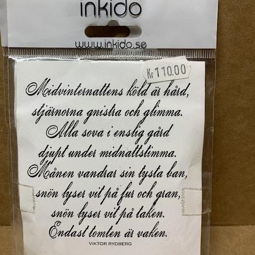 EZ monterad gummistämpel från Inkido