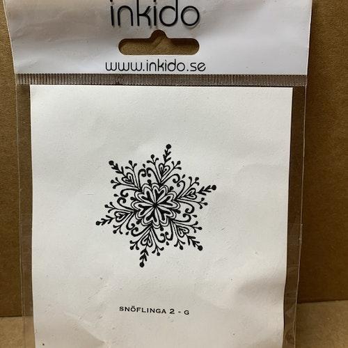 EZ monterad gummistämpel från Inkido ca 5 cm