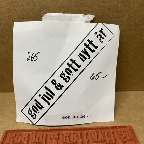 EZ monterad gummistämpel 11,5x2,5 cm