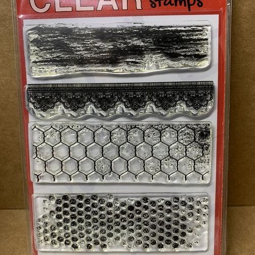 Nr 48, 5 clearstamps, längd ca 9,5 cm