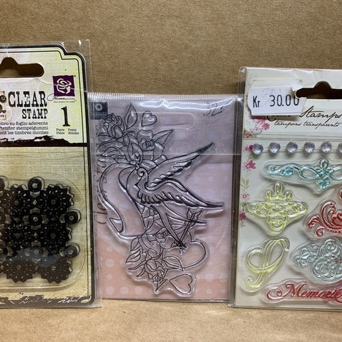 Tre clearstamps ord.pris 85kr
