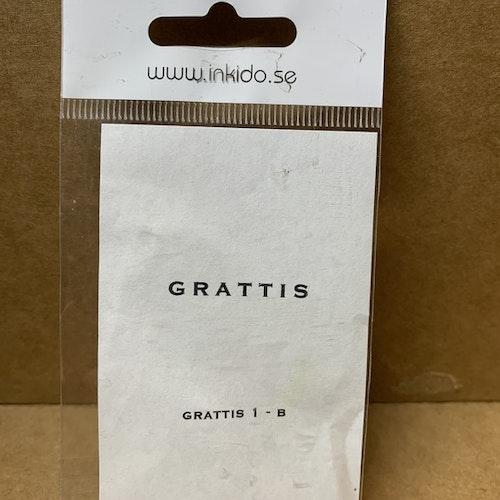 Nr 118 A, monterad gummistämpel ca 3,5x0,6 cm