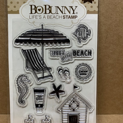 B 12, clearstamps beach