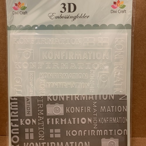 3D embossingfolder Konfirmation