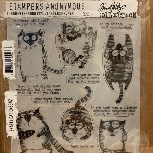 Stämplar Snarky Cat CMS392