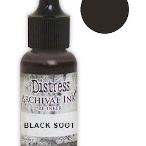 Tim Holtz® Distress Archival Re-Inker Black Soot .5 oz