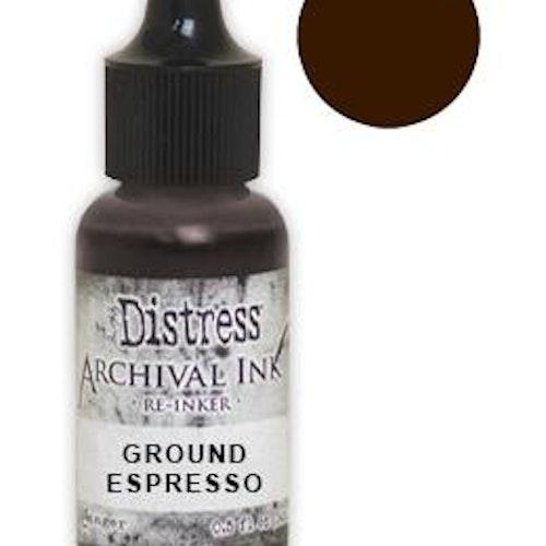 Tim Holtz® Distress Archival Re-Inker Ground Espresso .5 oz