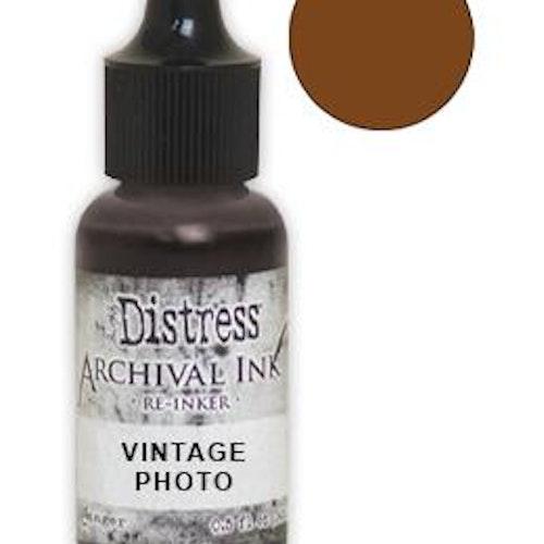Tim Holtz® Distress Archival Re-Inker Vintage Photo .5 oz