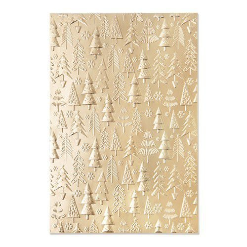 Sizzix 3-D Textured Impressions Embossing Folder Christmas Tree Pa 665254 Kath Breen