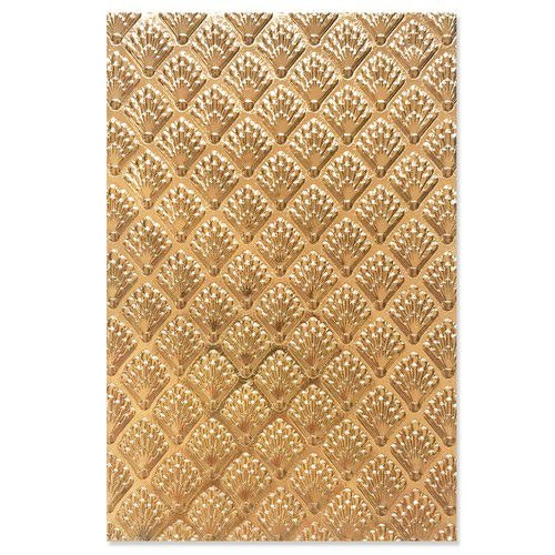 Sizzix 3-D Textured Impressions Embossing Folder Shells 664514 Jessica Scott