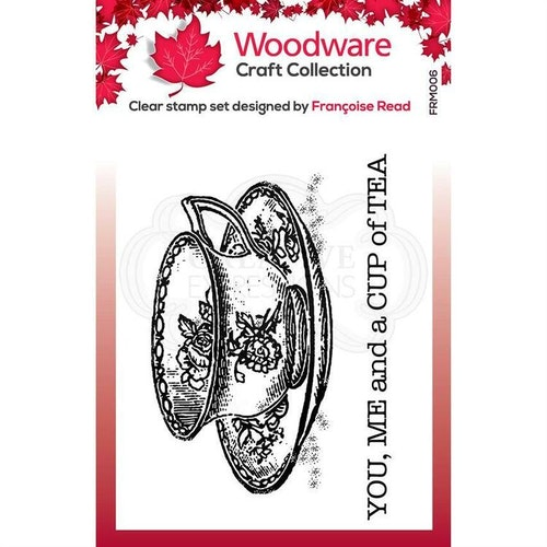 """Woodware Clearstamp """"Cup of Tea"""" FRM006"""