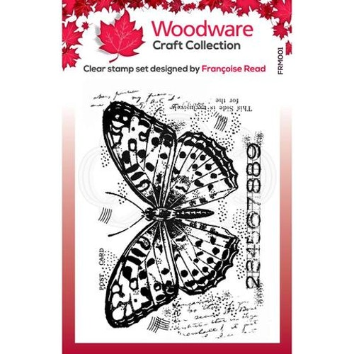 """Woodware Clearstamp """"Butterfly"""" FRM001"""