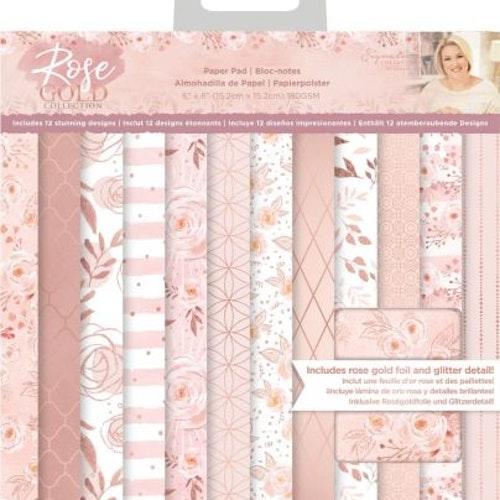 Sara Signature Paper Pad 6X6 - Rose Gold