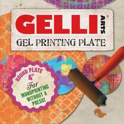 Gelli Arts - Gel Printing Plate Round 10cm GEL4R