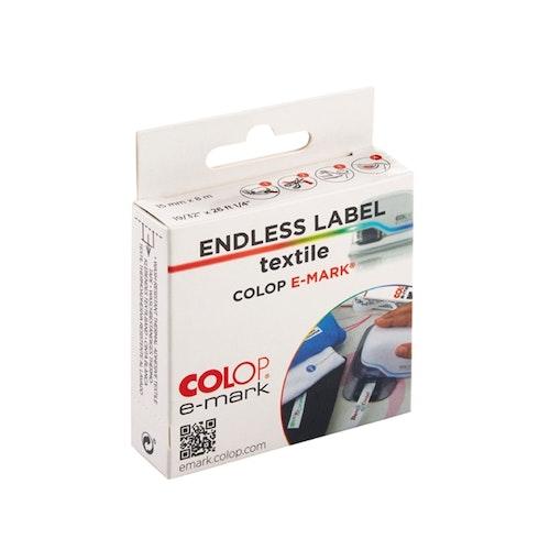 Colop e-mark Etikett på rulle Textil (iron-on) 15 mm x 8 m