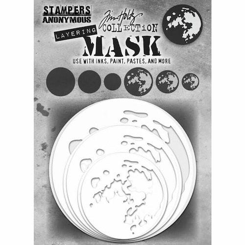 Tim Holtz Layering Mask Set 6/Pkg - Moon