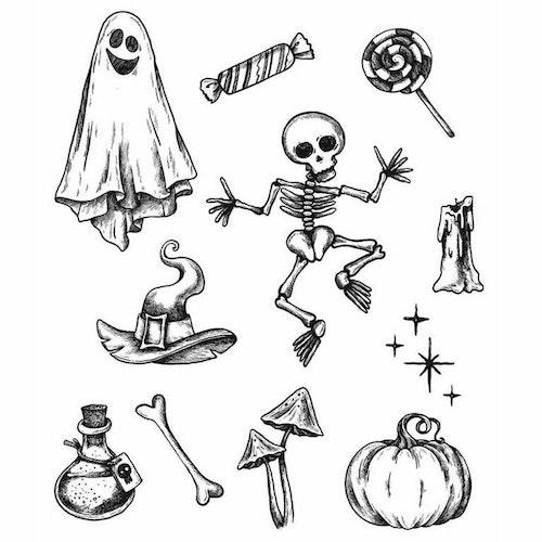 Tim Holtz Cling Stamps 7X8.5 - Halloween Doodles