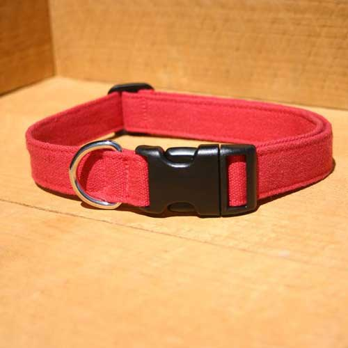 Good Dog Company / Hemp Basic / Red / Halsband L