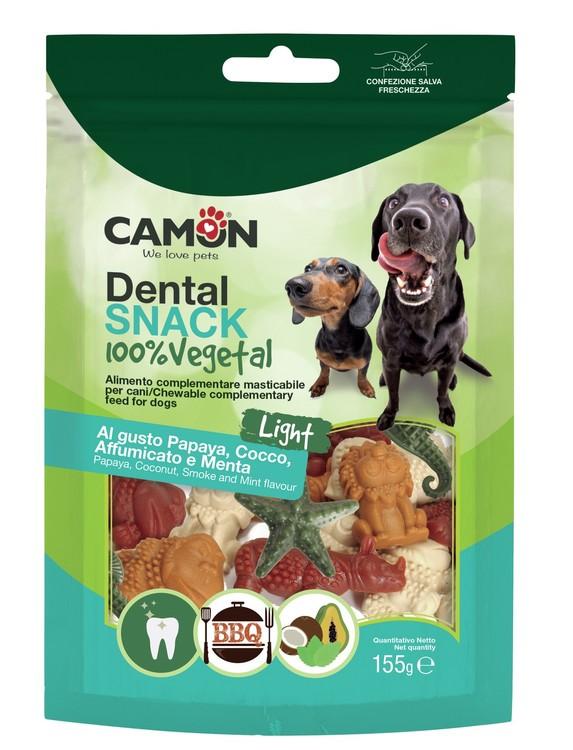 Camon / Dental Snack / AnimalVeg Papaya, Coconut, Smoke n Mint Flavour 155g