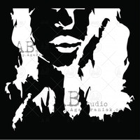 "Stencil "" Female soul"" 20x20 cm"