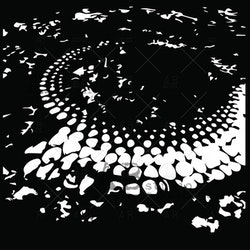 "Stencil ""My own abyss"" 20x20 cm"
