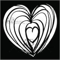 """Stencil """"Heart"""" 15x15 cm"""