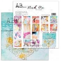 "Find Me"" scrapbooking paper set 8x 12'x12' + bonus page"