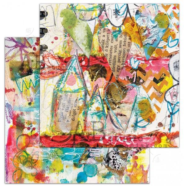 """Shine your light""-scrapbooking paper set 7x 12'x12' + ..."