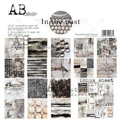 """In the past""- scrapbooking paper set 8x 12'x12' + bonus"