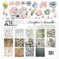 """Crafters bundle"" - scrapbooking paper set 7x 12'x12'"