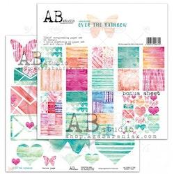 """Over the rainbow""- scrapbooking paper set 8x 12'x12' + ..."