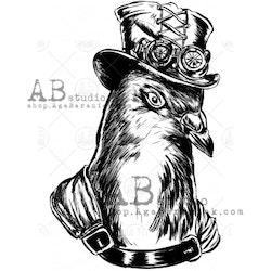 """Stämpel ID-884 """"steampunk Pigeon"""""""