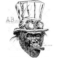 "Stämpel ID-883 ""steampunk gorilla"""