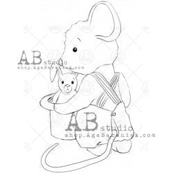 """Stämpel """"mouse"""" ID-692"""