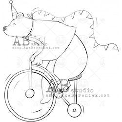 "Stämpel circus bear"" ID-691"