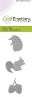 CraftEmotions Die - hedgehog, squirrel