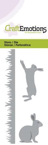 CraftEmotions Die - grass, rabbit, hare
