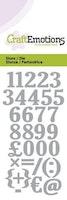 CraftEmotions Die - numbers
