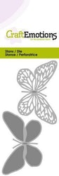 CraftEmotions Die - butterfly 2x