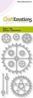 CraftEmotions Die - gears, clock pointers