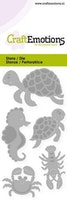 CraftEmotions Die - turtle, seahorse