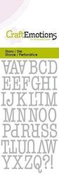 CraftEmotions Die - uppercase alphabet typewriter