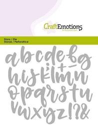 CraftEmotions Die - alphabet handlettering lowercase